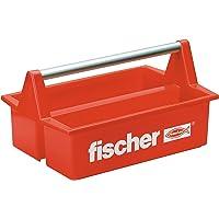 fischer 60524 Mobibox gereedschapsbak, de bekende en handige rode kunststof gereedschapskist