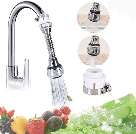 Movable Filter Sprayers Tap Water-Saving Device Scalable//Rotating//Folding Telescopic Water-Saving Nozzle Fits Standard Faucets 360 Rotating Kitchen Faucet Nozzle Water Filter