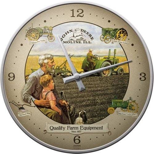 John Deere Grandfather / Grandson wall clock
