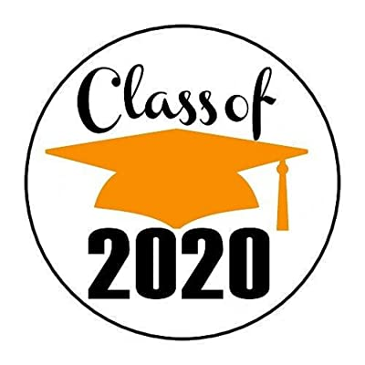 "48 Class of 2020 Orange Envelope Seals Stickers 1.2"" Round: Arts, Crafts & Sewing"