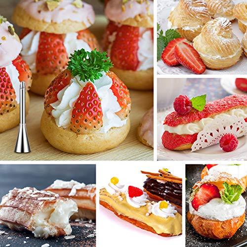 HOTERB Kit per decorare torte da 57 pezzi per 25 bocchette,2 chiodi per fiori,4 cupcake riutilizzabili,sacchetti per glassa,spatola,tagliapasta,sacchetto da pasticceria,2 chiodi per fiori,glassa reale