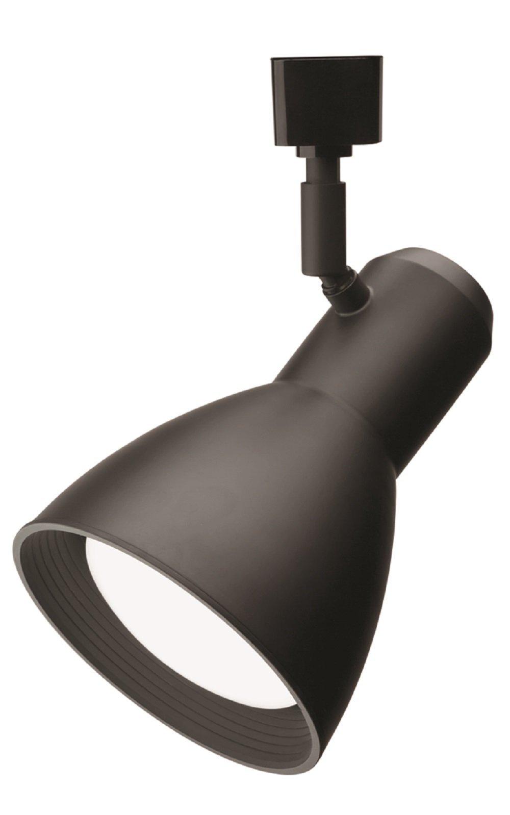 Lithonia Lighting LTHSTBF BR30 LED 27K DBL M4 LED Step Baffle Track Head, 27K, Black,