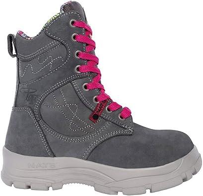 Steel Toe Work Boots - Grey