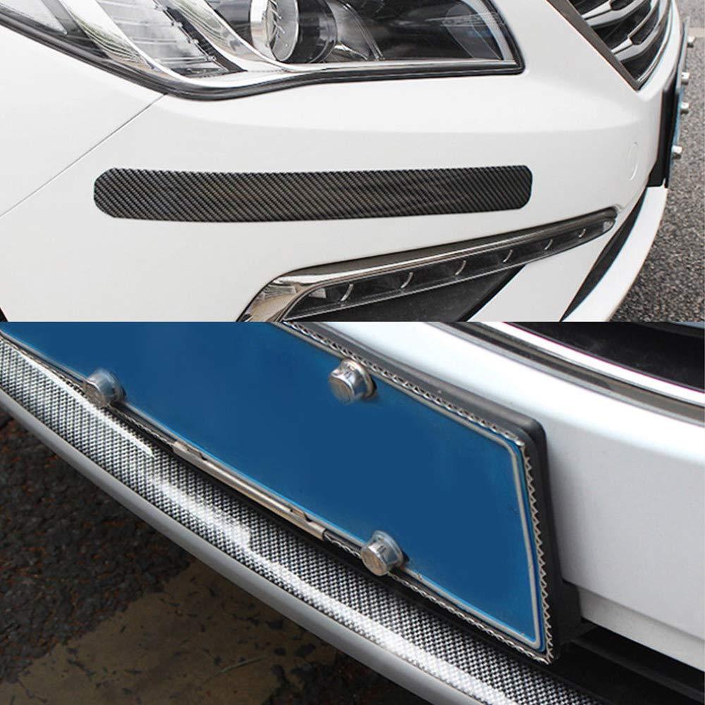 Bigdispawl auto adesivo in fibra di carbonio nero gomma antigraffio DIY Trim cover battitacco Protector Edge Guard