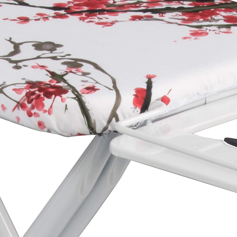 cm,Fleurs 74-85 Lestarain Table /à Repasser R/églable en Hauteur pour Fer /à Vapeur,Planche /à Repasser en M/étal Solide 111x30x