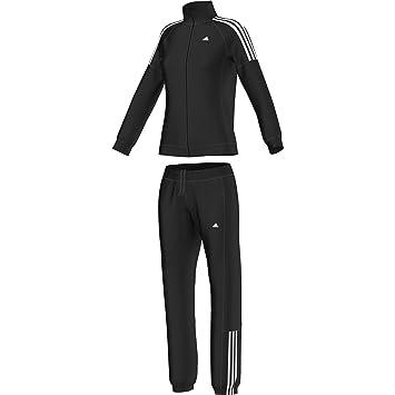 detailing details for uk availability adidas Damen Trainingsanzug Frieda, Schwarz/Weiß