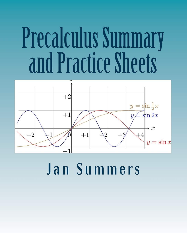 Precalculus Summary and Practice Sheets: Amazon.co.uk: Jan Summers ...