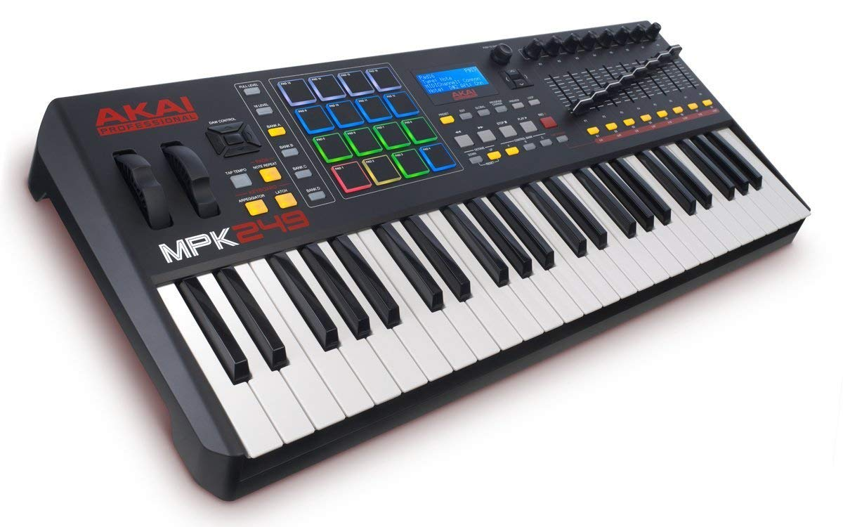 Akai Professional Compact Keyboard Controller (49-Key) with 4-Port USB 2.0 Hub + MIDI Cable Pack of Cable ties & Cleaning Cloth by Akai (Image #9)