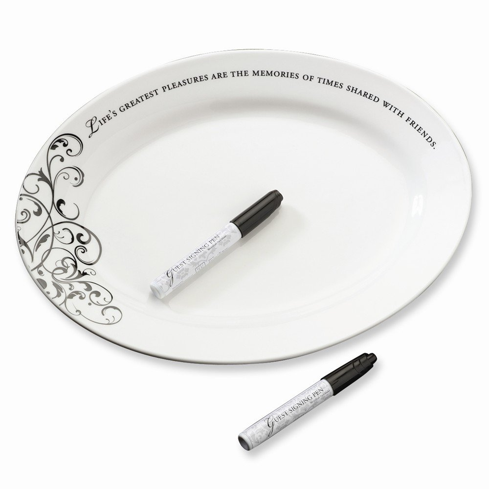 Best Birthday Gift Oval Signing Plate Wedding Keepsake