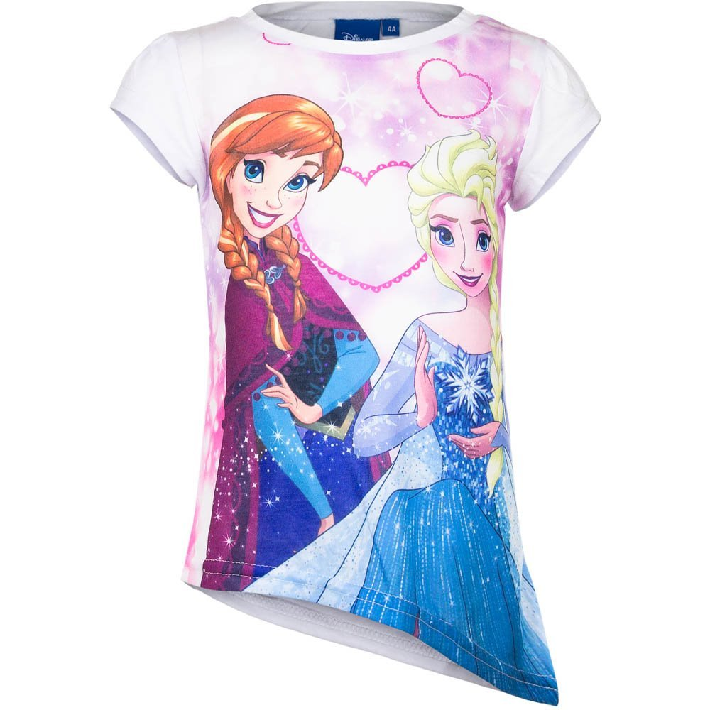 4587 S/ü/ßes Kinder Kurzarm T-Shirt DISNEY FROZEN EISK/ÖNIGIN Asymmetrisch Longshirt