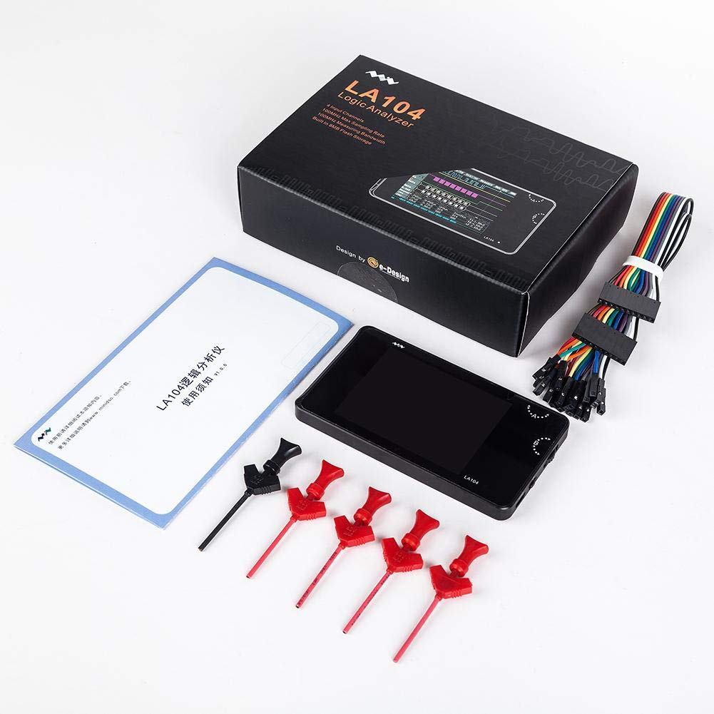 Longshow Digital Logic Analyzer LA104 USB Mini 4 Channels 100Mhz Max Sampling Rate Built in 8MB Flash Storage 2.8 Oscilloscope