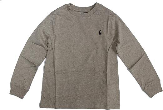 Ralph Lauren - Camiseta de manga larga para bebé, color gris: Amazon.es: Ropa y accesorios
