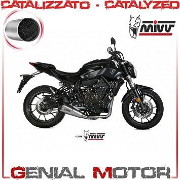 New Y 044 Kdrx Komplette Auspuffanlage Katalysiert Mivv Delta Race Inox Cup Carbon Mt 07 2014 14 Auto