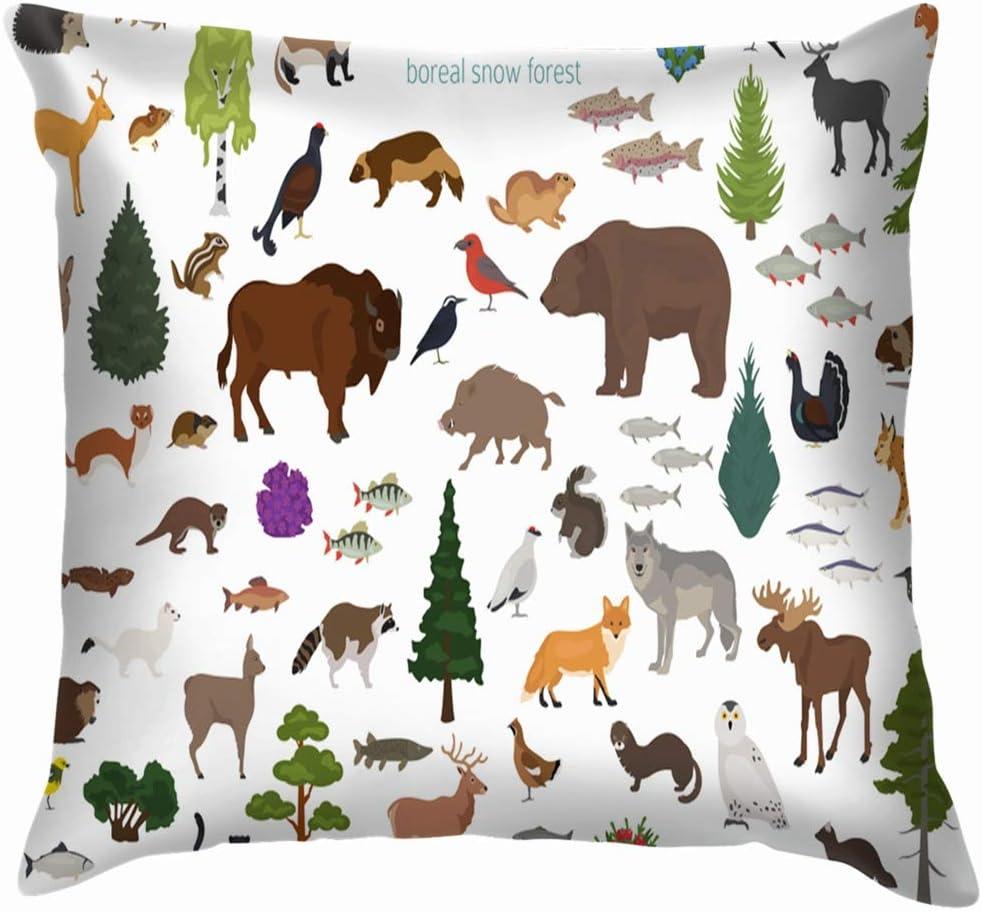 Set of 2 modern decorative throw pillows animal deer cushion cover US SELLER