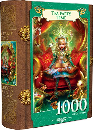 MasterPieces Tea Party Time - Alice in Wonderland 1000 Piece Book Box Jigsaw Puzzle from MasterPieces