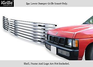 APS Fits 95-97 Nissan Hardbody Bumper Stainless Chrome Billet Grille Insert #N85117S