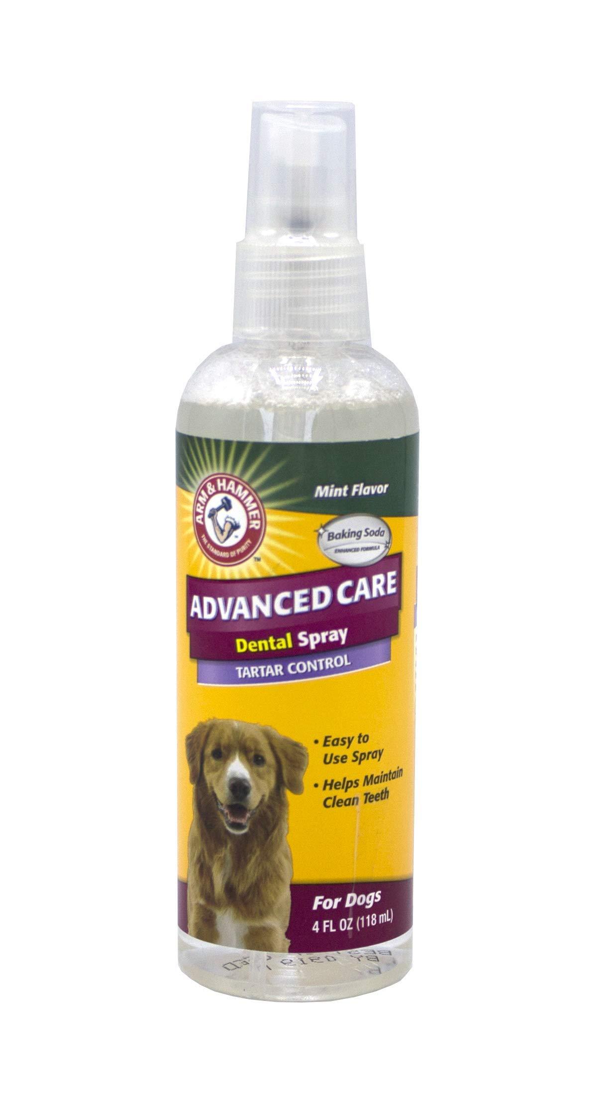 Arm & Hammer Dog Dental Care Tartar Control Dental Spray for Dogs | Reduces Plaque & Tartar Buildup Without Brushing | Mint Flavor, 4 Ounces