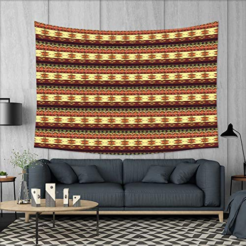 smallbeefly Native American Tapestry Wall Hanging 3D Printing Traditional Arrow Figures Triangles Flying Birds with Roses Colored Borders Beach Throw Blanket 60