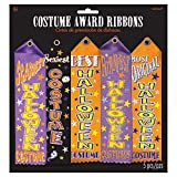 Halloween Trick or Treat Party Assorted Costume Award Ribbon, Pack of 5.