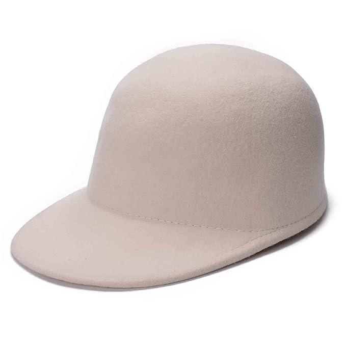 cde4ad825 Lawliet Womens Unisex Solid Color 100% Wool Felt Baseball Cap Hat T282