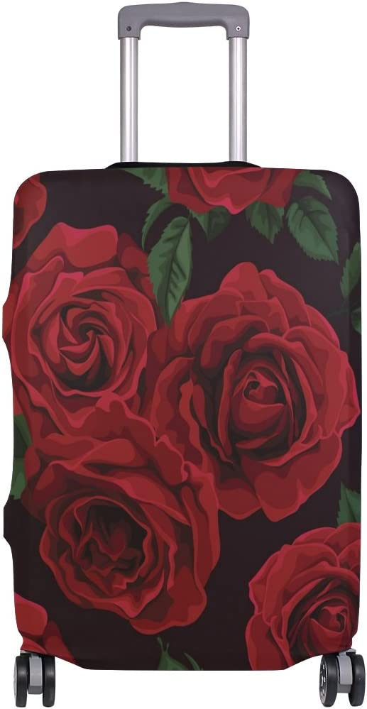 OREZI 3D Red Roses Luggage Protector Suitcase Cover 18-32 Inch