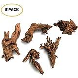 5Pcs Driftwood Branches Aquarium Wood Decoration Natural Fish Tank Habitat Decor Wood for Lizad