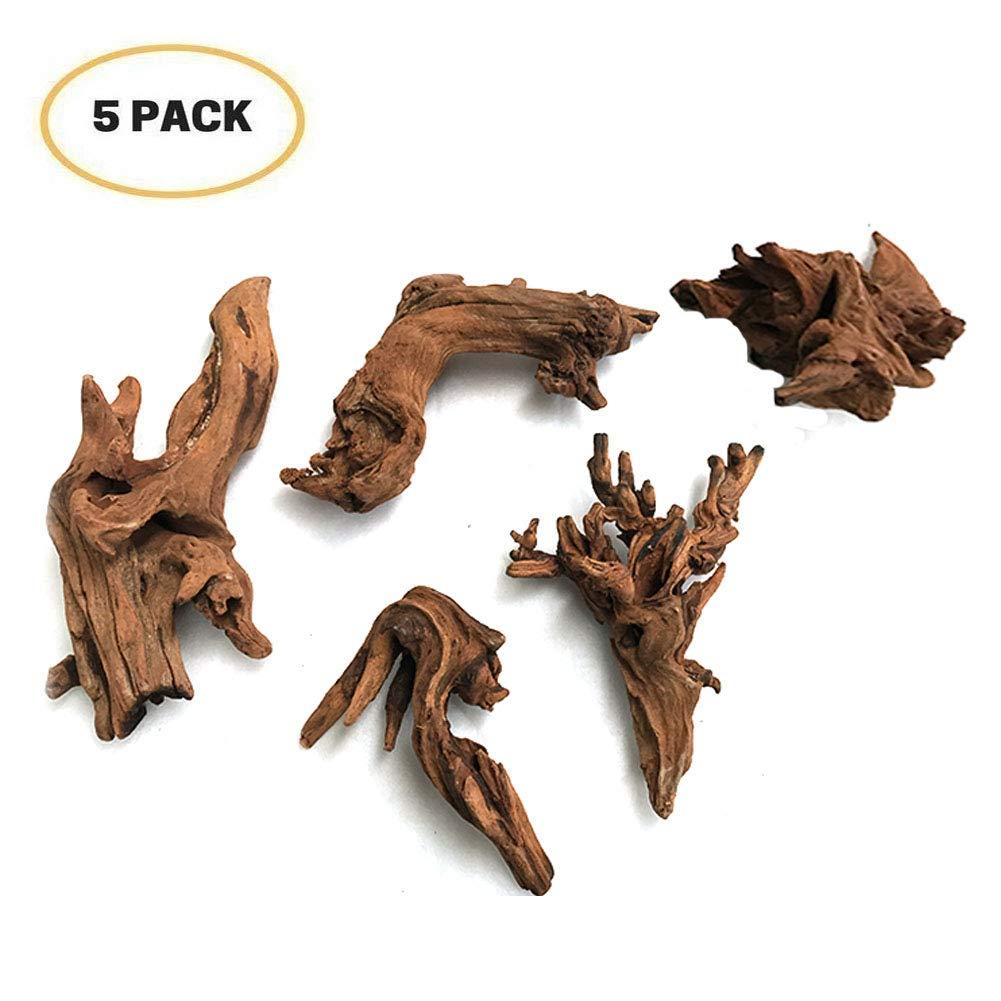 5Pcs Driftwood Branches Aquarium Wood Decoration Natural Fish Tank Habitat Decor Wood for Lizad 61X0I7O2FUL