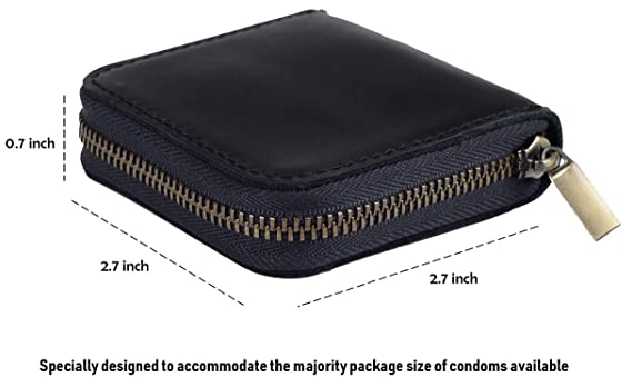 Amazon.com: Fuinloth - Funda de piel para preservativos ...