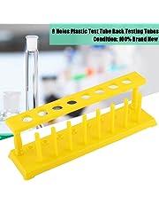 Plastic Test Tube Rack 8 Holes Holder Storage Stand Lab Supplies Yellow Detachable
