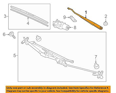 Auténtica Honda 76610-ts8-a01 brazo del limpiaparabrisas