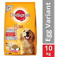 Pedigree Adult Dry Dog Food (High Protein Variant), Chicken, Egg and Rice, 10 Kg