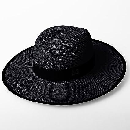 QZ HOME Sombrero De Paja Verano Jugador De Bolos Aire Libre Sombrero para  El Sol Mar 00be3ce5f0d