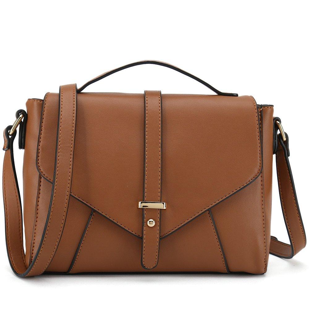 Ladies Designer Purses Cross Body Handbags Trendy Bags for Women Shoulder Bags (Brown)