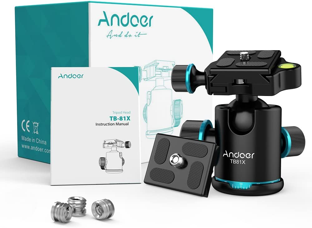Andoer 360 Degree Fluid Rotation Camera Tripod Ball Head with ...