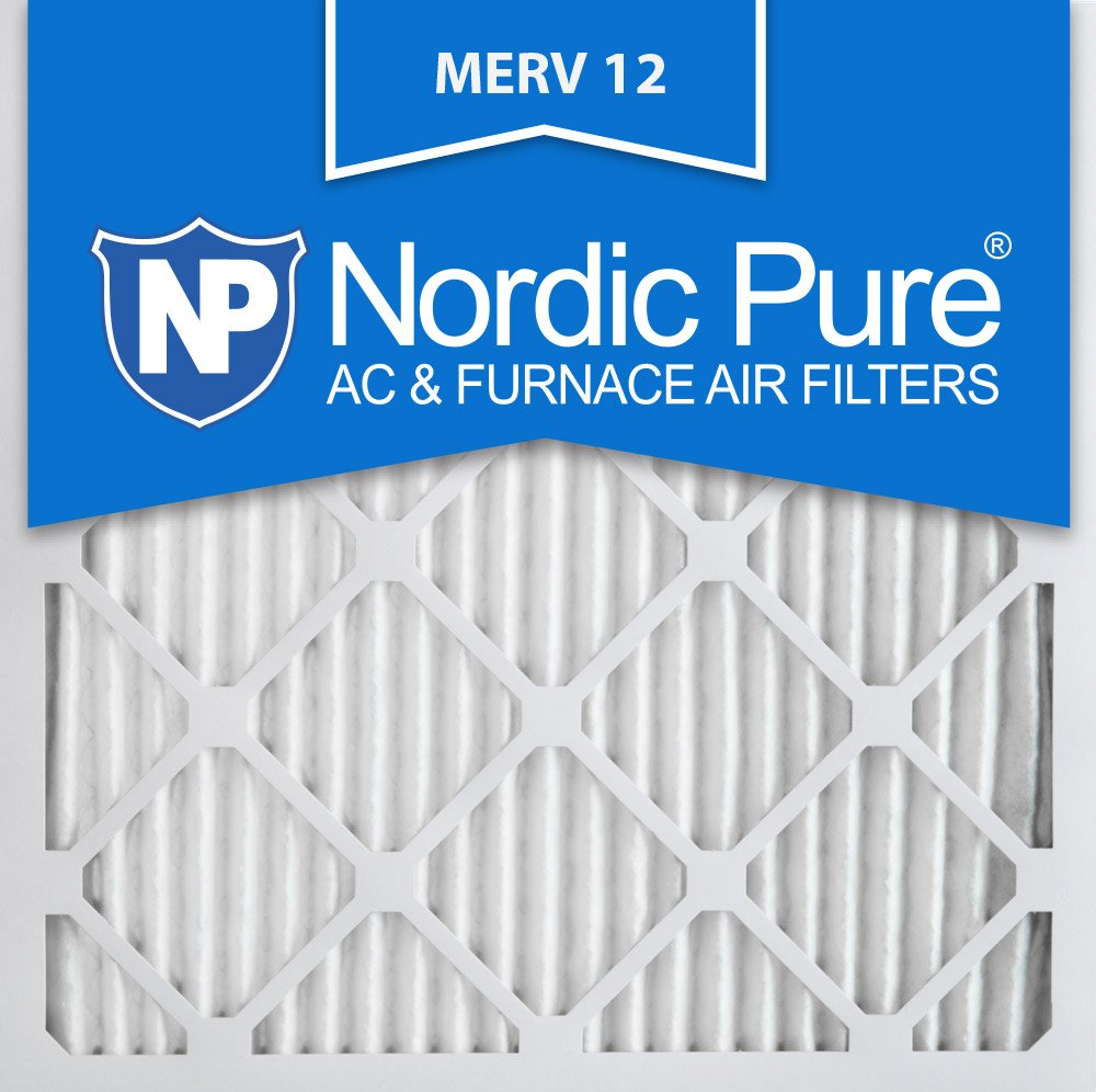 Nordic Pure 18x18x1 MERV 12 Pleated AC Furnace Air Filters 18x18x1M12-6 6 Pack