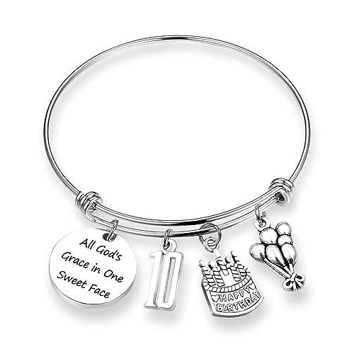 ZNTINA Birthday Gift Happy Bracelet 10th Goddaughter Gifts Princess For Children