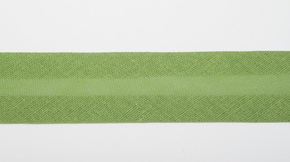 Glitzerp/üppi Baumwoll Schr/ägband 20mm gr/ün Einfassband Nahtband Textilband 100/% Baumwolle 3m
