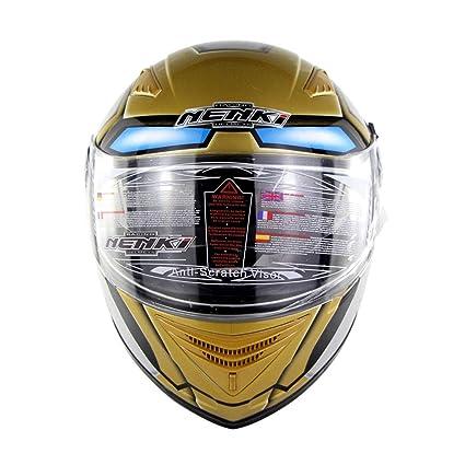 Lsrryd Cascos, Cara Completa Motocicleta Moto Casco 12K Fibra de Carbono Dos Viseras antiniebla para