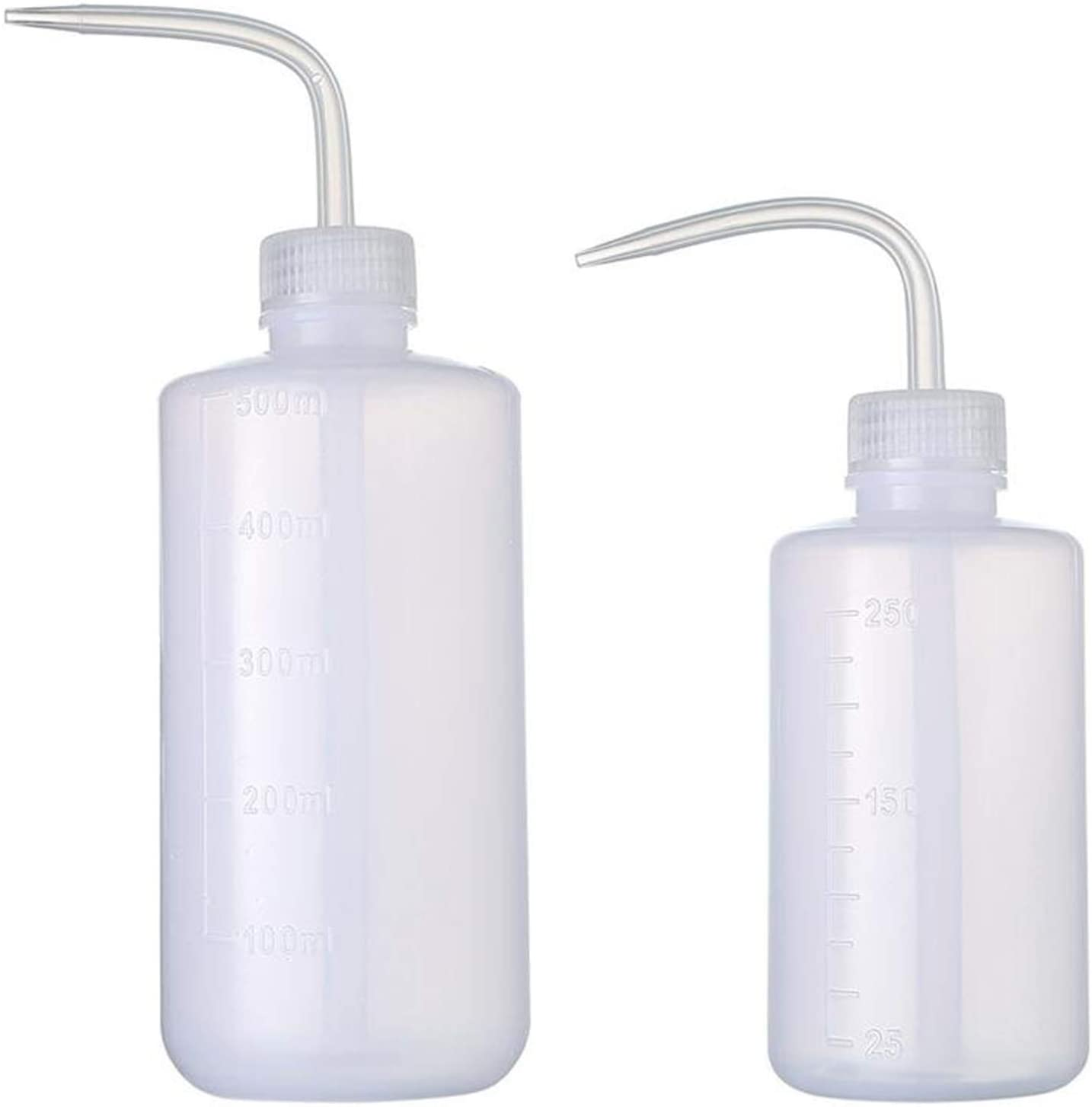 Wash bottle LDPE Bottle with Narrow Mouth 250ml 500ml (Pack of 2)