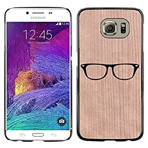 - Smart Glasses Hipster Simplistic Reading - - Funda Delgada Cubierta Case Cover de Madera FOR Samsung Galaxy S6 G9200 BullDog Case