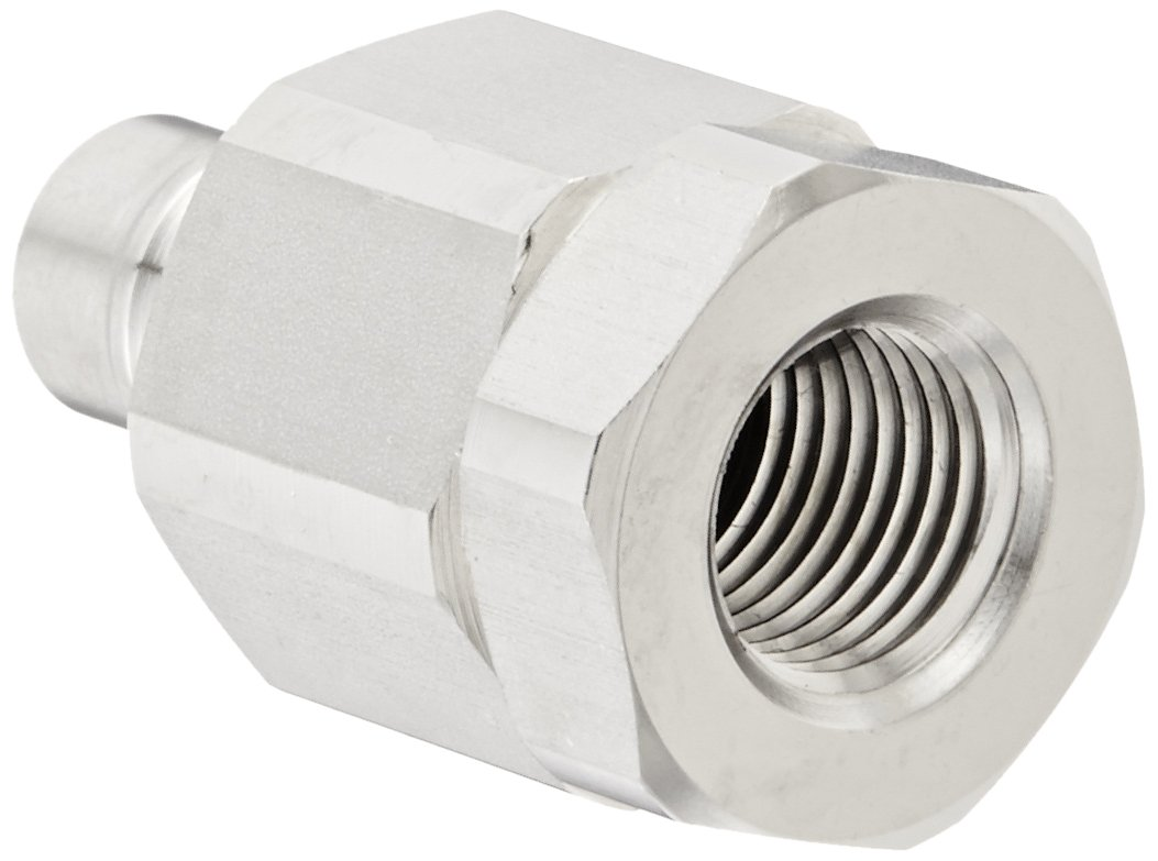 Nipple 1//4 NPSF Female x 1//4 Coupling Size 1//4 NPSF Female x 1//4 Coupling Size Snap-Tite SVHN4-4F Stainless Steel 316 H-Shape Quick-Disconnect Hose Coupling