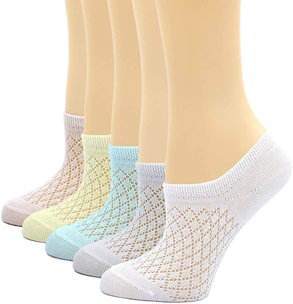 5 Pairs Kids Toddler Cotton Causal Thin Socks for Summer Ankle Socks