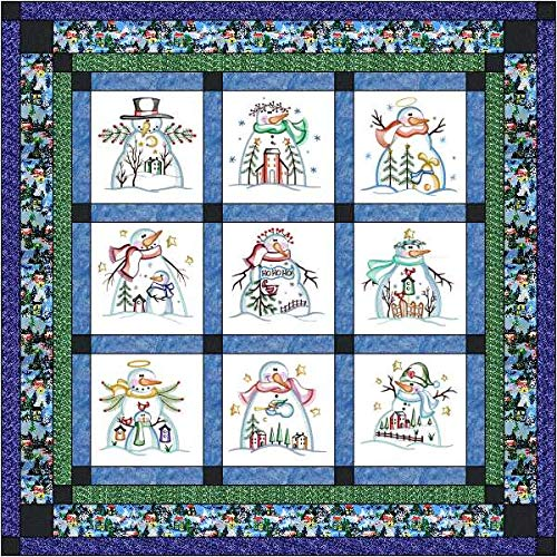 Quilt Kit Country Christmas/Pre Cut Ready to Sew/Finished Embroidery by Material Maven