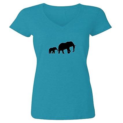 Madre y bebé elefante playera algodón Unisex Cuello Redondo y Womens V-neck  opciones Graphic bbb8622b3cb7