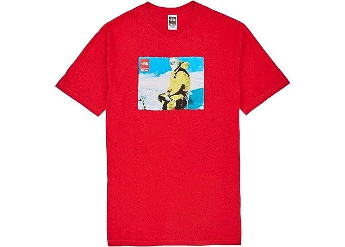 3de98686 Supreme TNF Box Logo Photo Tee T-Shirt Red FW18 100% Authentic Real Designer
