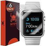 Skinomi TechSkin–Schutzfolie für Apple Watch 42mm (deckt die gesamte Oberfläche Bildschirm + wasserdicht) (6Stück)
