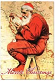 12 'Rockwell Holidays Map' Boxed Christmas Cards with Envelopes 4.63 x 6.75 inch, Vintage Norman Rockwell Christmas Greeting Cards, Classic American Art Holiday Notes B6036IXSG