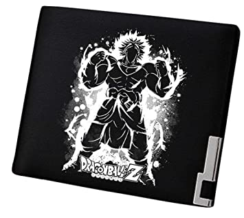 Cosstars Dragon Ball Anime Cartera Cuero Artificial Billetera Hombre Portatarjetas Slim Wallet Negro /1: Amazon.es: Equipaje