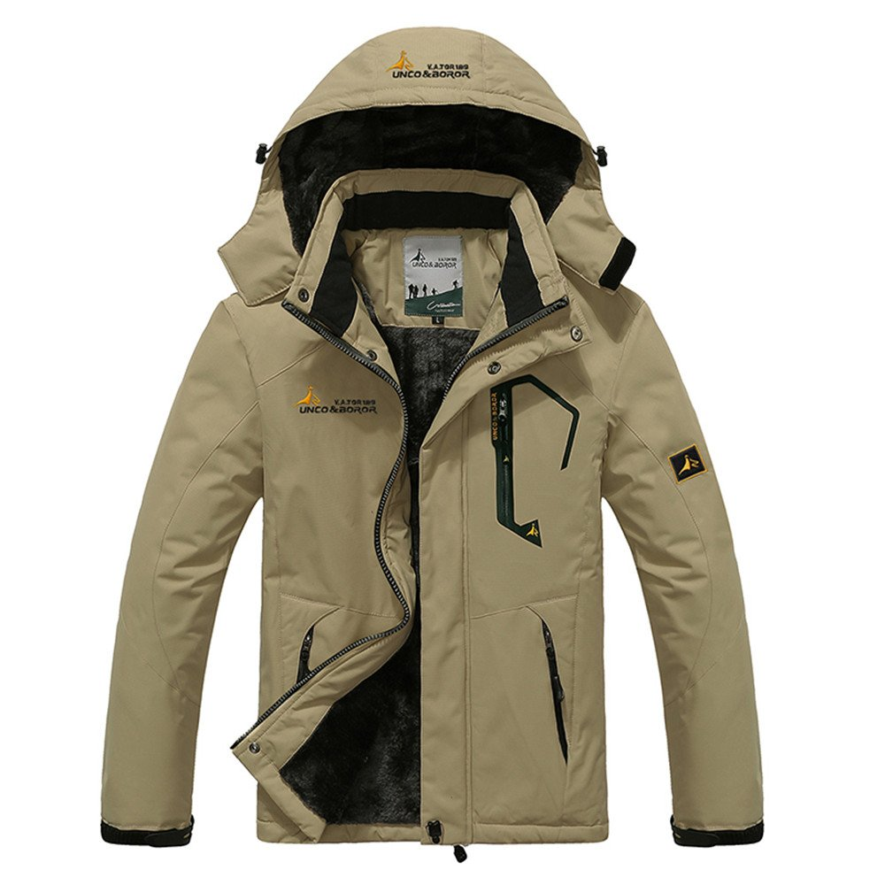 YIRUIYA Men's Fleece Jacket Winter Waterproof Warm Windproof Ski Jackets LBL816-CA