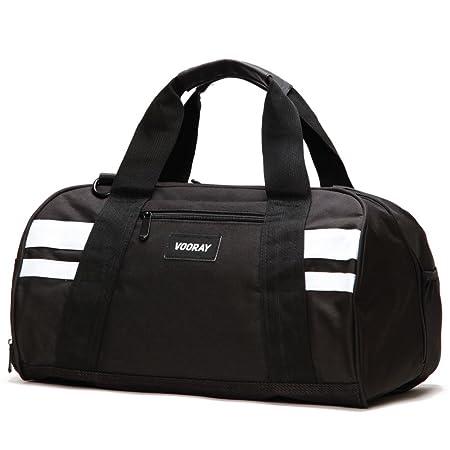 Vooray Burner 16 Compact Gym Bag Black White Amazonca Luggage Bags